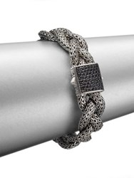 John Hardy Classic Chain Black Sapphire And Sterling Silver Medium Braided Bracelet