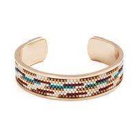 Azuni London Nacona Wide Bangle In Navajo Gold