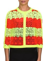Moschino Lace Stripe Jacket Yellow Red