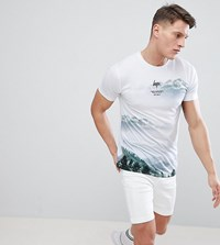 Hype Muscle Mountan Print T Shirt Exclusive To Asos White