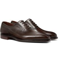 George Cleverley Anthony Leather Oxford Brogues Dark Brown