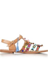 Mabu By Maria Bk Andromena Embellished Gladiator Sandals Multi