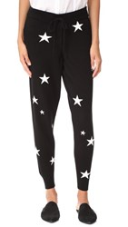 Chinti And Parker Star Cashmere Track Pants Black Cream
