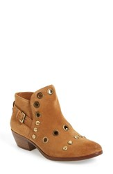 Sam Edelman Women's Pedra Grommeted Split Shaft Bootie Saddle Leather