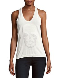 Zadig And Voltaire Alix Skull Tank Top White