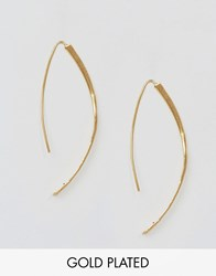 Ottoman Hands Hammered Through And Through Earrings Gold