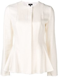 Theory Peplum Fitted Jacket White