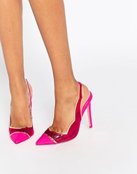 Asos Primp Pointed Heels Pink