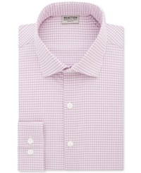 Kenneth Cole Reaction Men's Techni Slim Fit Flex Collar Performance Pink Check Dress Shirt Dusty Pink