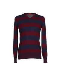 Gallo Knitwear Jumpers Maroon