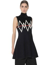 Sportmax Geometric Embroidered Sleeveless Sweater