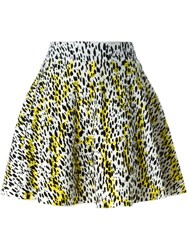 Kenzo Leopard Knit Skater Skirt Yellow And Orange