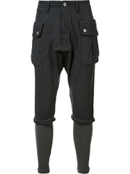 Mostly Heard Rarely Seen Cargo Skinny Trousers Blue