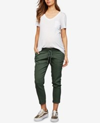 A Pea In The Pod Maternity Chambray Jogger Pants Thyme
