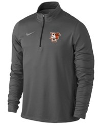 Nike Men's Bowling Green Falcons Heather Dri Fit Element Quarter Zip Pullover Anthracite