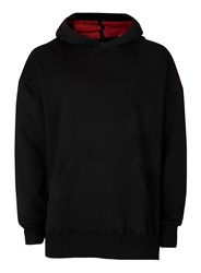 Topman Aaa Black Fleece Lined Hoodie