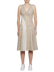 French Connection Niko Broderie Printed Dress Summer White Multi