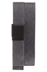 Men's Nike Heathered Web Belt Dark Grey Black