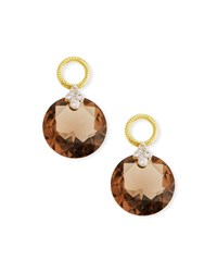 Jude Frances 18K Gold Provence Smoky Topaz Earring Charms