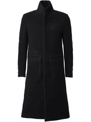 Individual Sentiments Stand Up Collar Coat Black