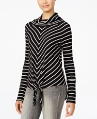 American Rag Juniors' Striped Cowl Neck Top Only At Macy's Classic Black