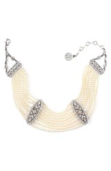 Ben Amun Women's Faux Pearl Collar Necklace