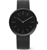 Uniform Wares M37 Pvd Coated Stainless Steel And Rubber Watch Black