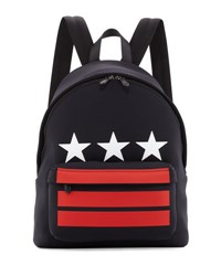 Givenchy Stars And Stripes Neoprene Backpack Black
