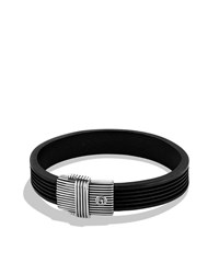 Royal Cord Id Bracelet In Black David Yurman