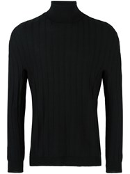 Lucio Vanotti Ribbed Turtleneck Jumper Black