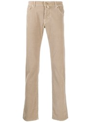 Jacob Cohen Corduroy Trousers Neutrals