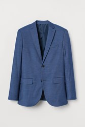 Handm H M Slim Fit Blazer Blue