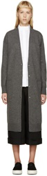 Studio Nicholson Grey Wool Long Anderson Cardigan