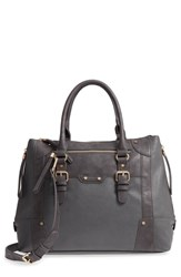 Sole Society 'Susan' Winged Faux Leather Tote Grey