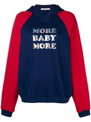 Christopher Kane 'More Baby More' Hoodie Blue