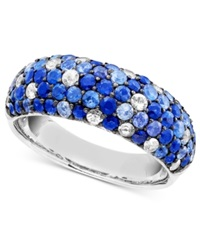 Effy Collection Saph Splash By Effy Shades Of Sapphire Band Ring 2 7 8 Ct. T.W. In Sterling Silver Blue