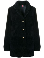Thom Browne Shearling Oversized Sack Jacket Blue