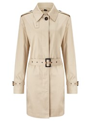 Four Seasons Single Breasted Contemporary Trench Coat Natural