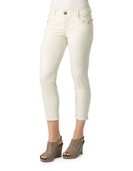 Democracy Ab Solution Ankle Cropped Jeans Blanched Almond
