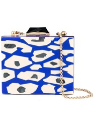 Kotur Leopard Clutch Women Plexiglass Metal One Size Blue