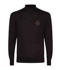 Billionaire Patch Turtleneck Sweater Male Black