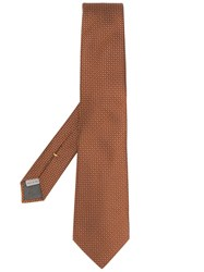 Canali Micro Dot Tie Orange