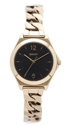 Dkny Parsons Three Hand Stainless Steel Watch Gold