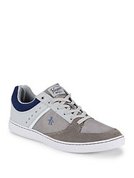 Original Penguin Leather Blend Round Toe Sneakers Grey