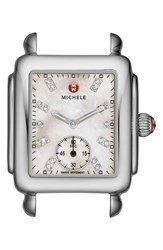 Michele Women's Deco 16 Diamond Dial Watch Head 29Mm X 31Mm