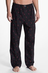 Polo Ralph Lauren Men's Cotton Lounge Pants Polo Black Red