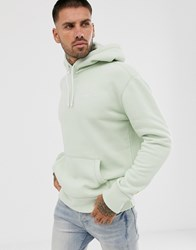Hollister Core Icon Logo Hoodie In Olive Green