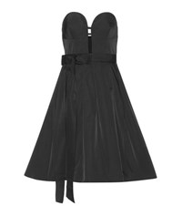 Oscar De La Renta Bustier Dress Black
