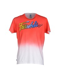 Franklin And Marshall Topwear T Shirts Men Red