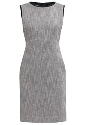Hobbs Estelle Shift Dress Navy Ivory Grey